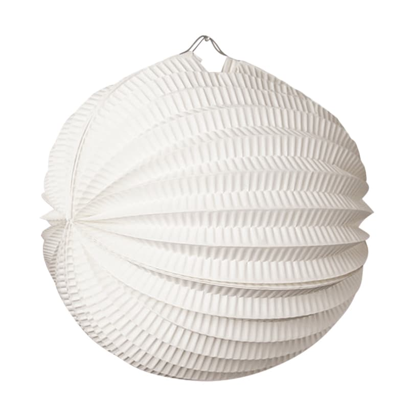 "Round 10"""" White Accordion Paper Lantern - Quantity: 5 - Wedding Packaging by Paper Mart"" 892321010"