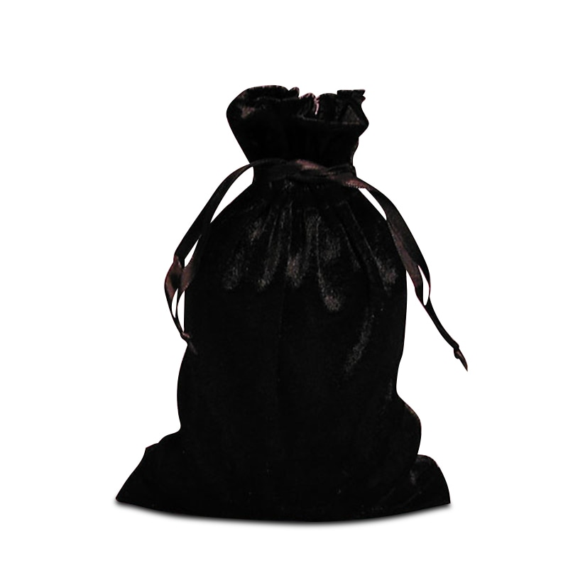 Cord Black Velvet Fabric Bags - Quantity: 20 Width: 4 Height/Depth: 6 by Paper Mart 09230320