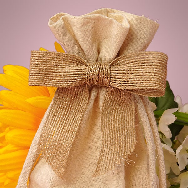"""7/8"""""""" Natural Jute Pre-Tied Bow - Quantity: 12 - Ribbon Width: 3"""""""" Height/Depth: 7/8"""""""" by Paper Mart"""" 5825302"""