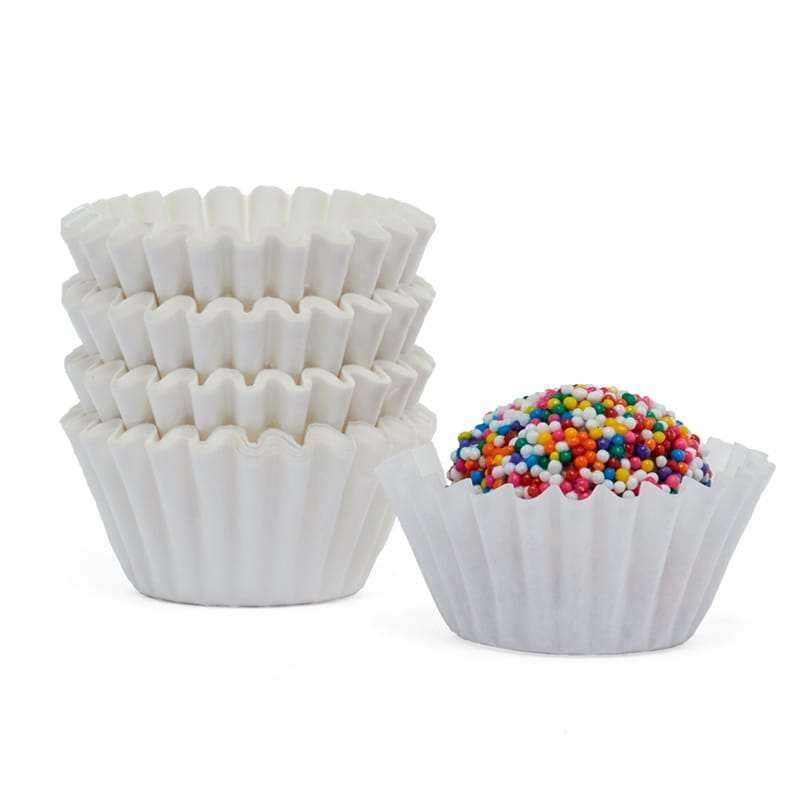 #6 White Grease Resistant Candy Cup - 1-1/4 X 7/8 - Quantity: 1000 - Candy Packaging by Paper Mart 8495236