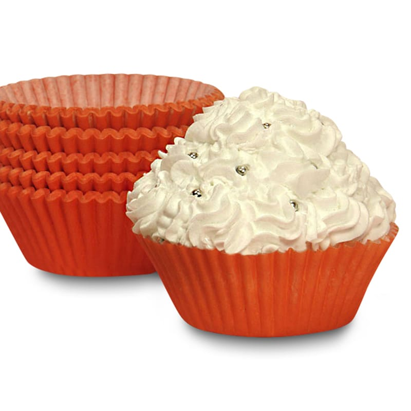 """Bakery Orange Cupcake Baking Cups - 2"""""""" X 1-1/4"""""""" - Cardboard - Quantity: 200 Type: Solid by Paper Mart"""" 85853240"""