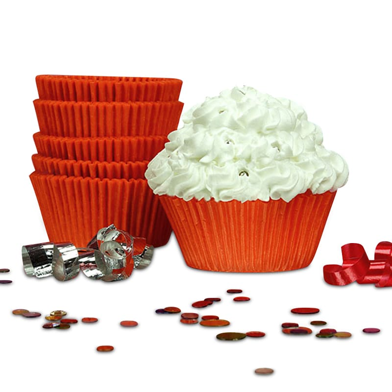 """Orange Greaseproof Cupcake Baking Cup Glass Diameter - 2"""""""" - Quantity: 200 Height/Depth: 1 1/4"""""""" by Paper Mart"""" 85853540"""