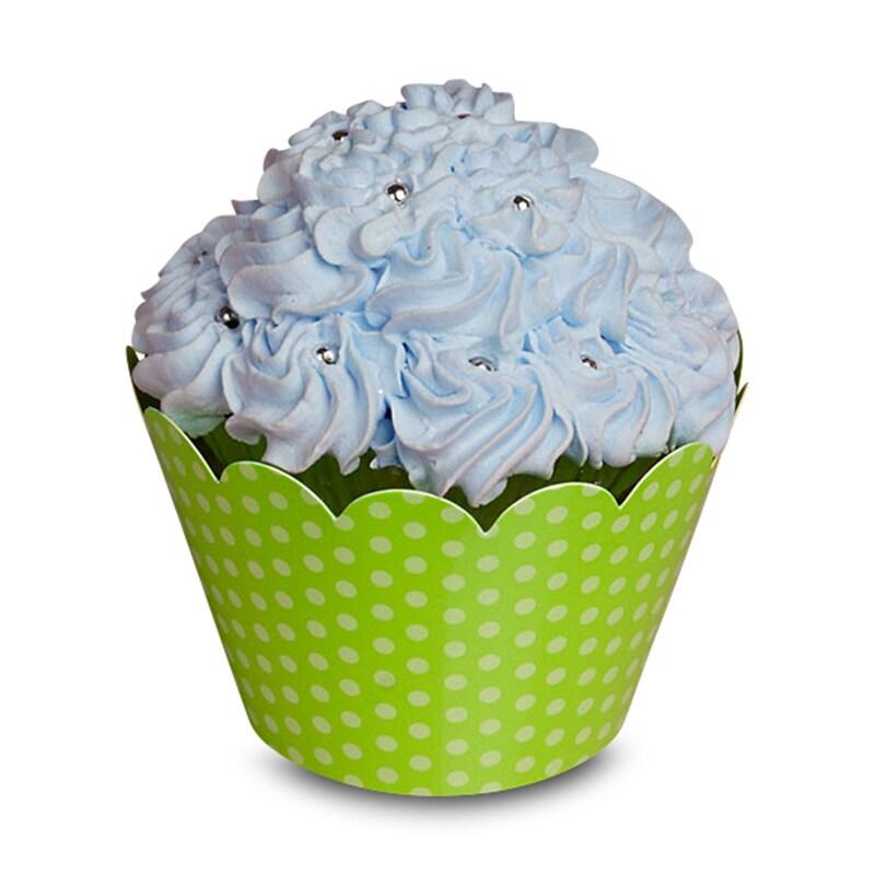 "Kiwi Green Dots Cupcake Wrapper - 2 X 2 - Cardboard Diameter - 2 """" - Quantity: 200 Type: 1 Side by Paper Mart"" 85941167"