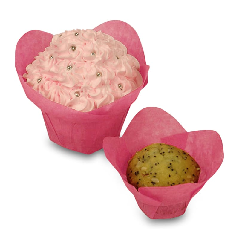 Bakery Hot Pink Standard Lotus Cups - 2 X 2 - Cardboard - Quantity: 250 by Paper Mart 85942134