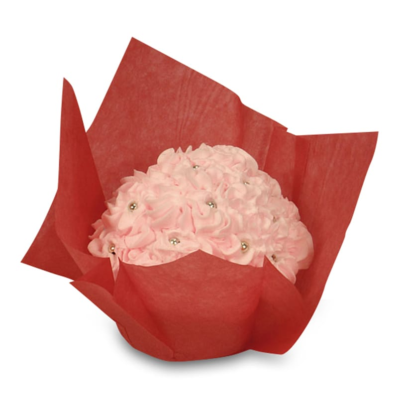 """Cardboard Bakery Red Large Tulip Cupcake Cups  by Paper Mart - Type: Large Height/Depth: 2 3/4"""""""" Diameter - 2 1/2"""""""""""" 85943130"""