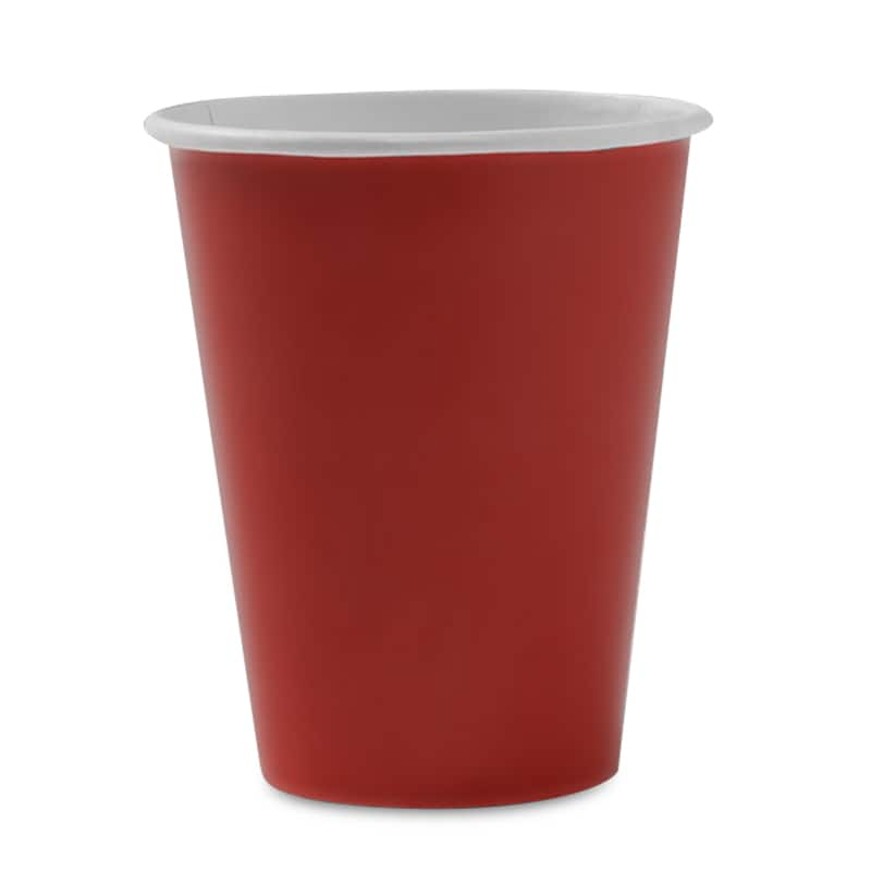 9 Oz Red Hot/Cold Paper Cup Colored - Quantity: 8 - Household Supplies by Paper Mart 96630230