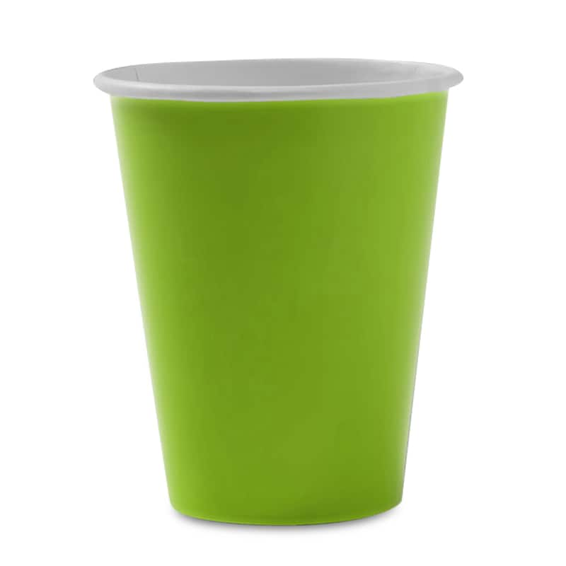 8ea - 9 Oz Lime Hot/Cold Paper Cup - Household Supplies by Paper Mart 96630268