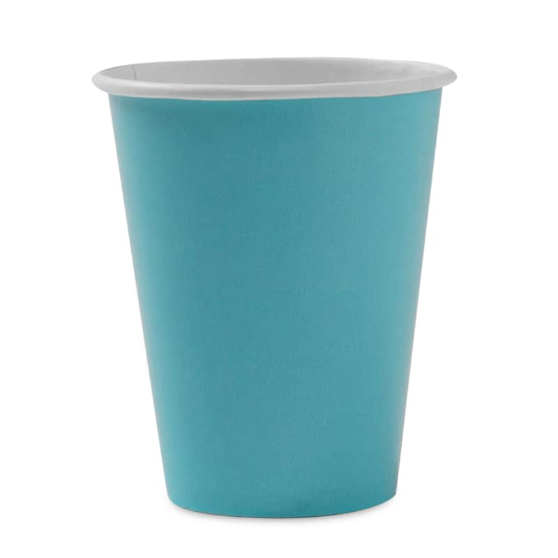 Colored 8ea - 9 Oz Bermuda Blue Hot/Cold Paper Cup - Household Supplies by Paper Mart 96630278