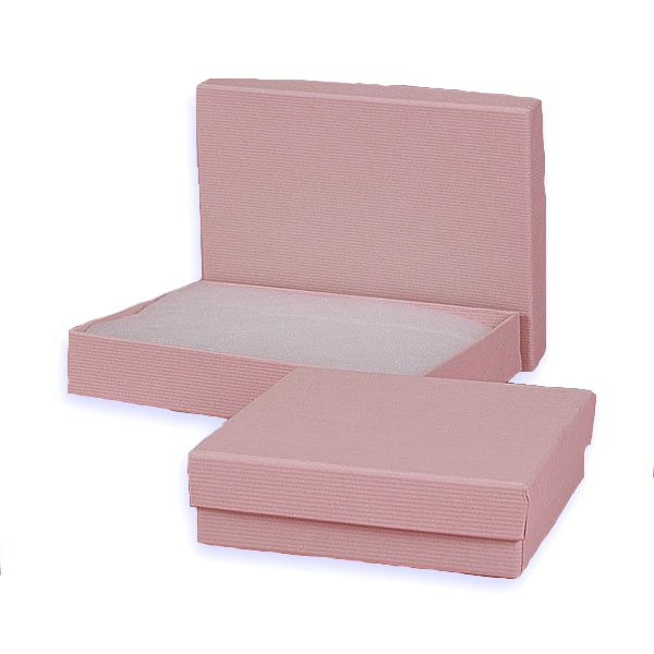 Pink Embossed Jewelry Box Colored - 3-1/16