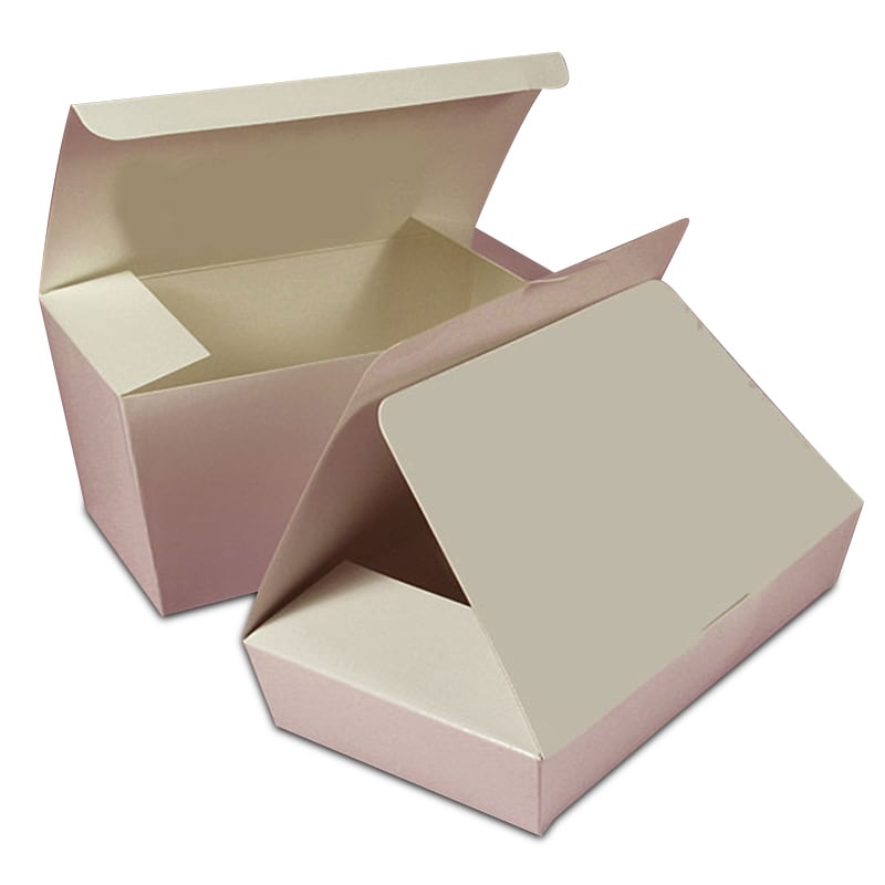 "White Two Layer Candy Ballotin Boxes - Quantity: 50 - Candy Packaging - Type: 2-Layer Width: 3 1/4"""" Height/Depth: 2 1/2"""" Length: 5 7/8"""""" 84312210"
