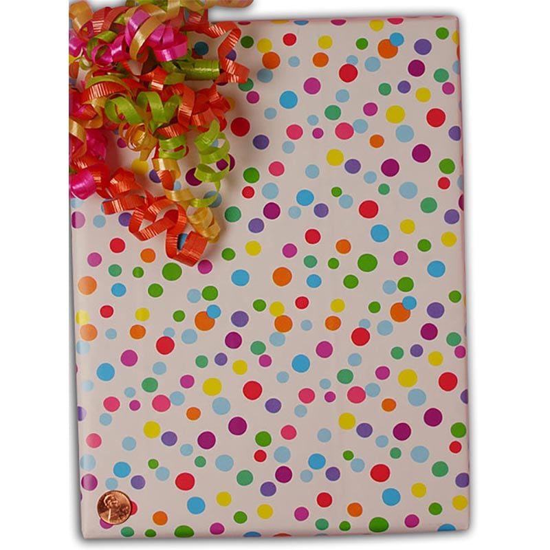 """Ditty Dots Gift Wrap - 24"""""""" X 100' - Gift Wrapping Paper - Type: Colored Ink On 50# Glossy Paper by Paper Mart"""" 4210A4264"""