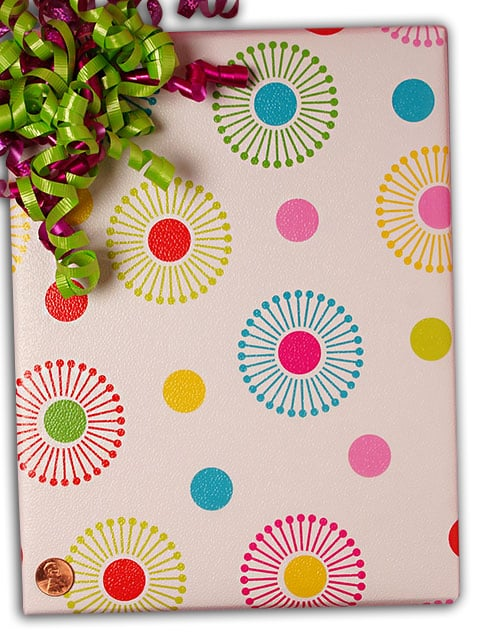"""Glass 30"""""""" X 100' Splash Dots Gift Wrap - Gift Wrapping Paper by Paper Mart - Type: Colored Ink On Paper"""" 4210E7679"""