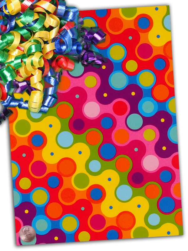 """Glass 24"""""""" X 15' Color Karma Gift Wrap - Gift Wrapping Paper by Paper Mart"""" 4215A8180"""