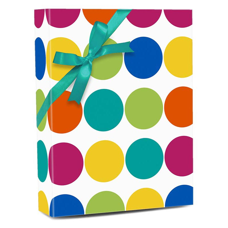 """#h8955 Colorful Big Dots - Gift Wrap - 18"""""""" X 417' - - Gift Wrapping Paper by Paper Mart"""" 42ZHH8955"""