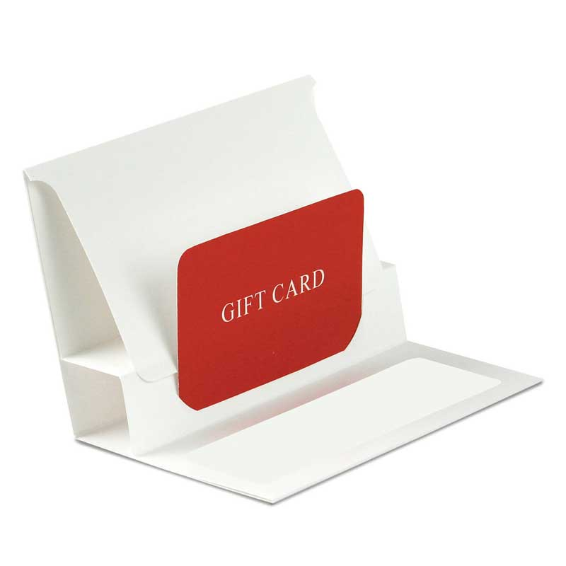 White Pop-Up Gift Card Folders - 5 X 3-3/8 X 1/8 - Quantity: 100 - Factory Direct Packaging by Paper Mart 99FD0010