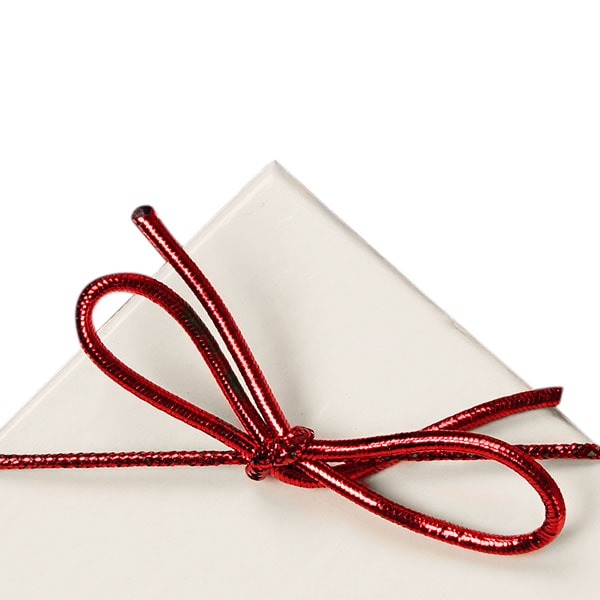 "Cord Bulk Ribbon - Metal 6"""" Red Stretch Loops(Case) - Quantity: 1000 - Polyethylene Ribbons Length: 6"""" by Paper Mart"" 44306A"