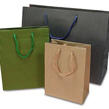 Pinstripe Tab Top Tote Box Shop With Paper Mart