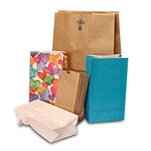 Brown Paper Merchandise Bags Grocery