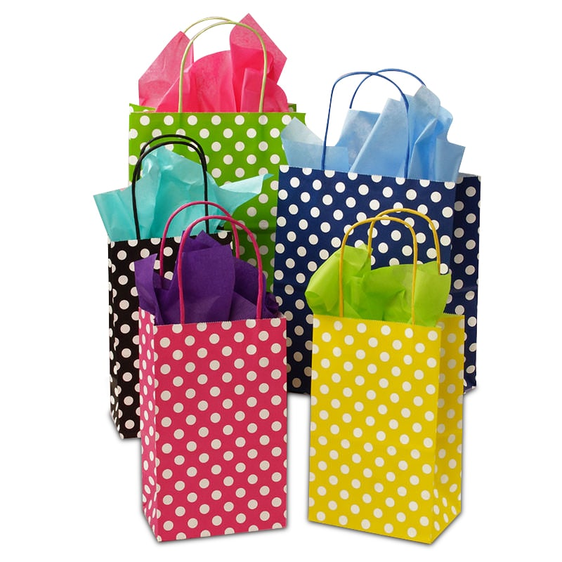 Polka Dot Twisted Handle Bags