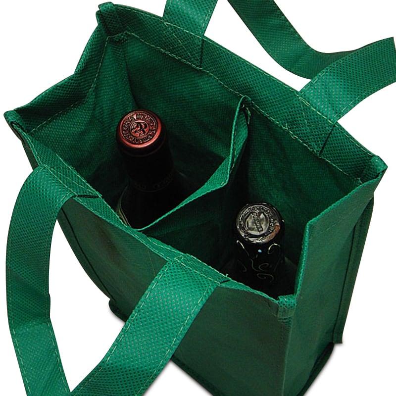 Non Woven Reusable Wine Bottle Carry Bags