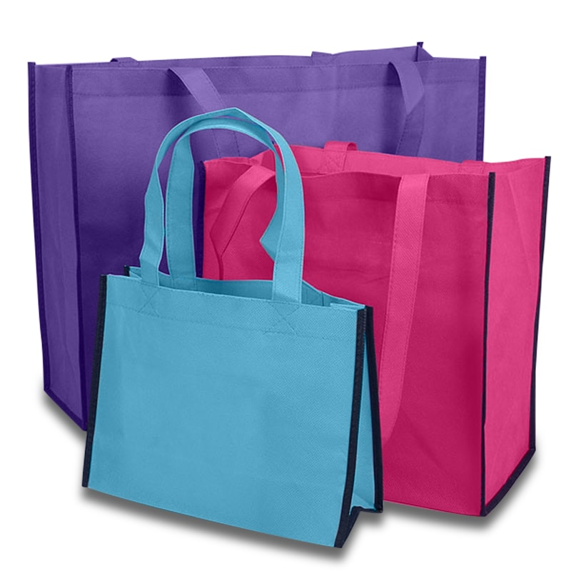 Bi-Colored Reusable Bags
