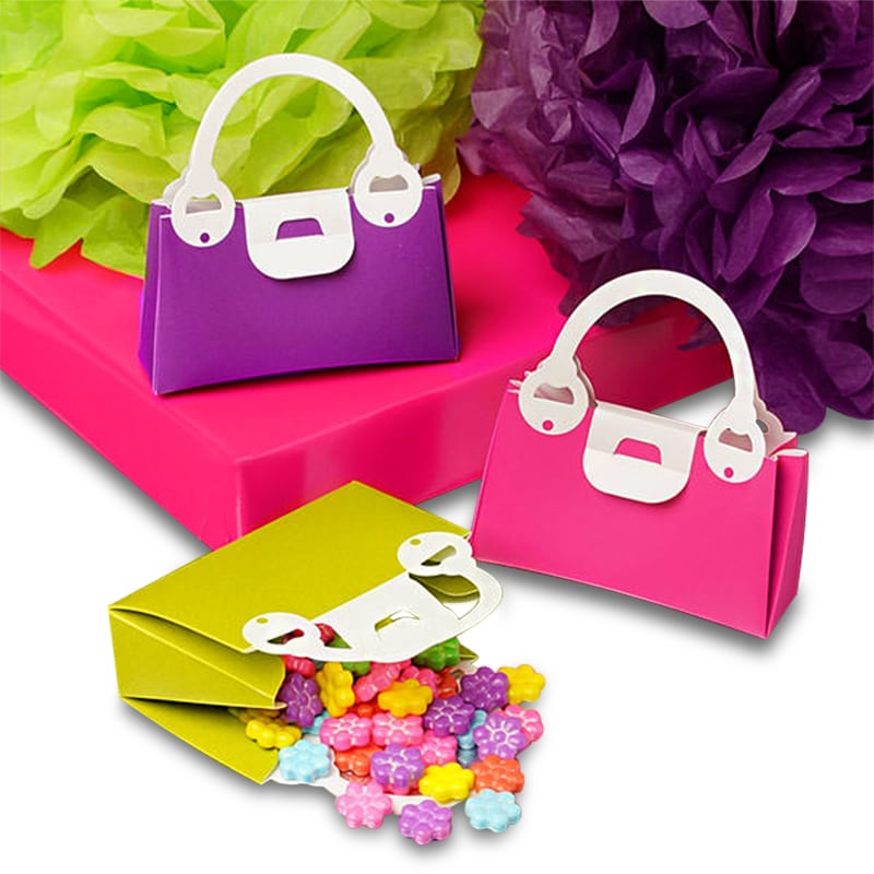 Colored Plastic Handbag Boxes