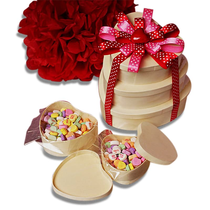 Heart Bentwood Box 5pc Set