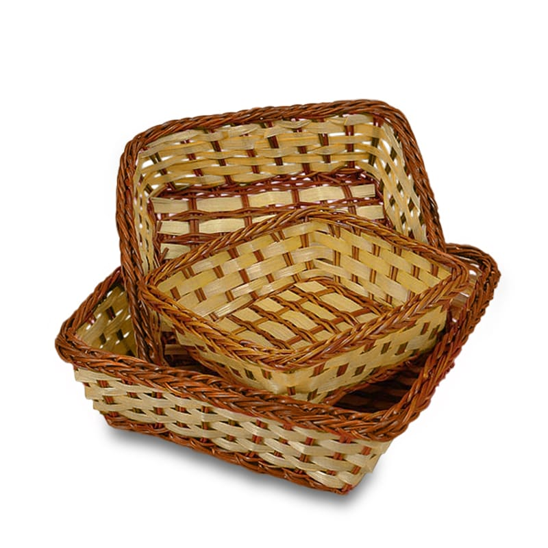 Two-Tone Bamboo Square Baskets