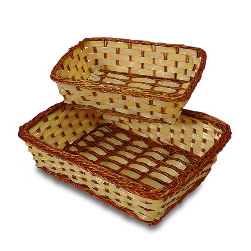 Two-Tone Bamboo Rectangular Baskets