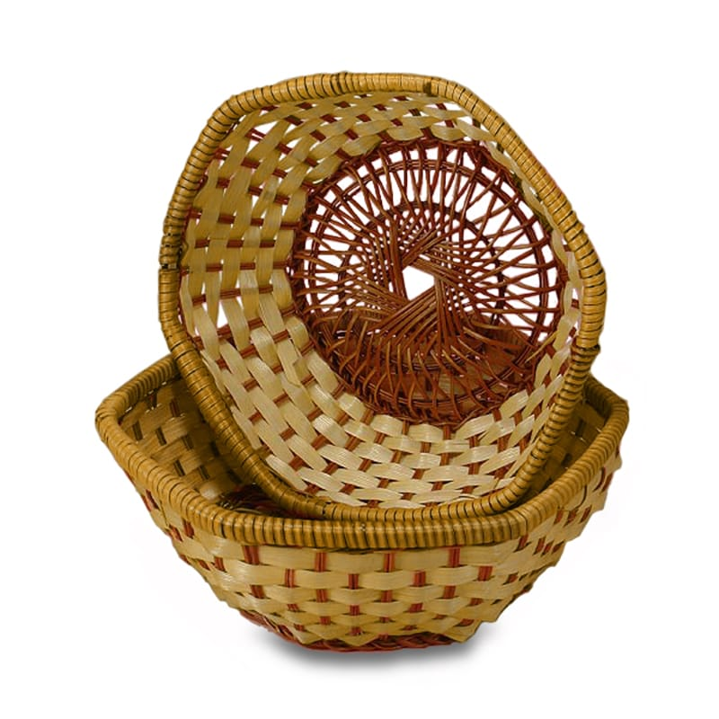 Bamboo Hexagonal Baskets