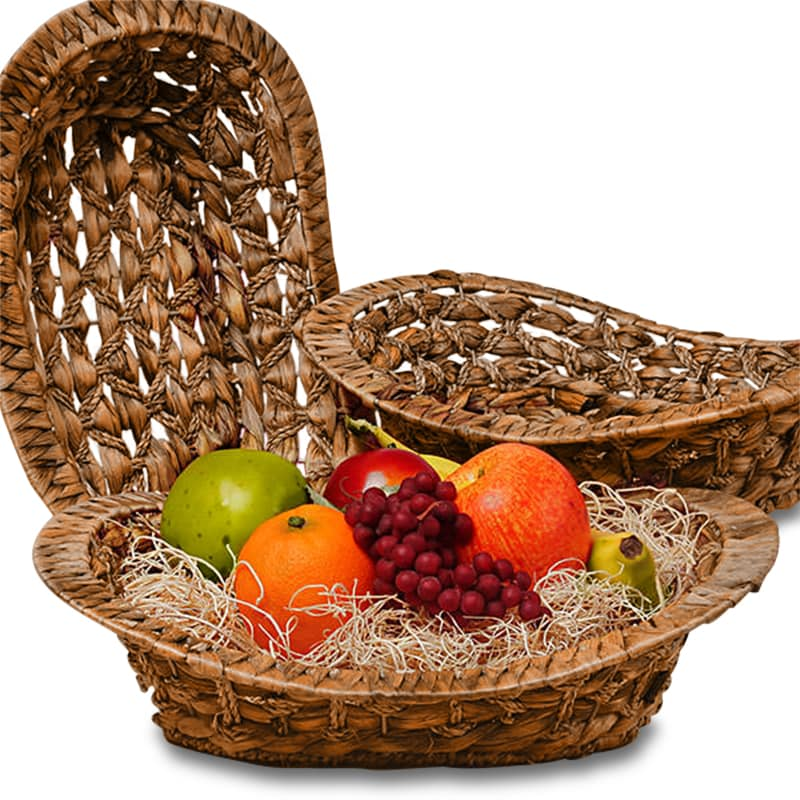 Seagrass Oval Basket Trays