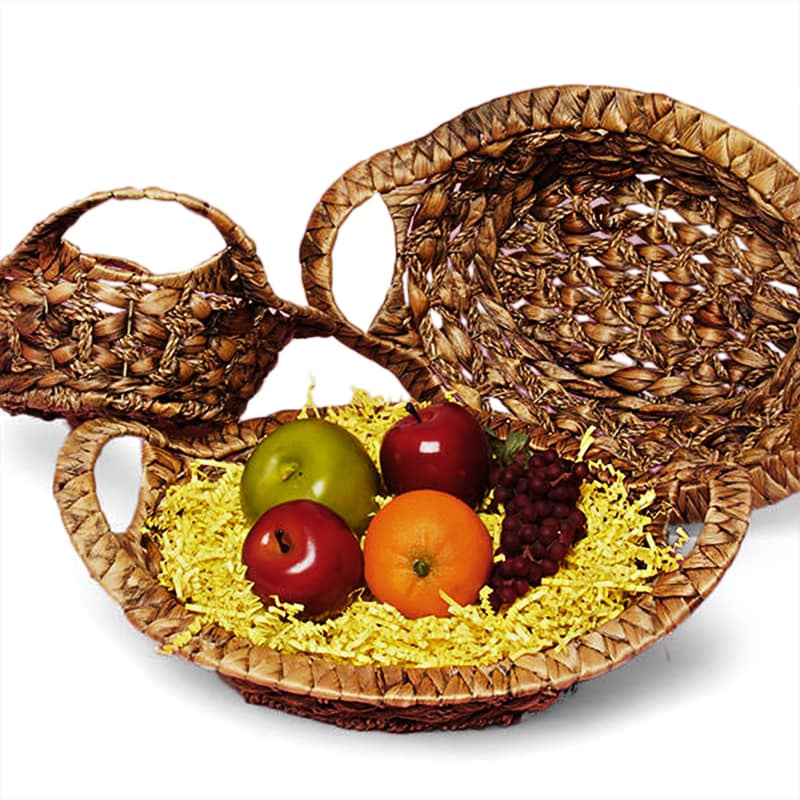 Oval Seagrass Basket Tray