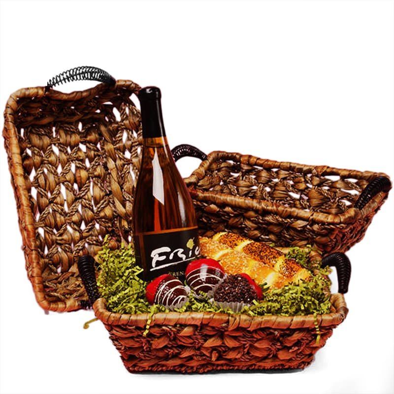 Rectangular Seagrass Basket Trays With Handles