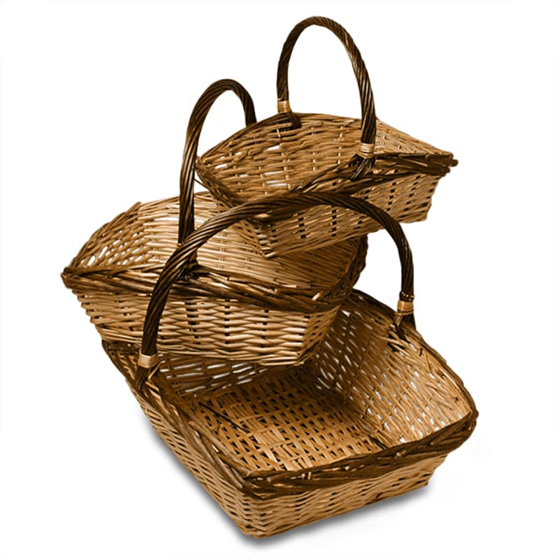 Old Chinon 3pc Willow Basket Set