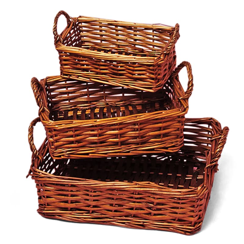 Sante Willow Rectangular Basket Tray Set
