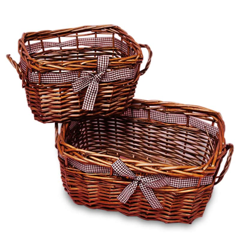 Dark Brown Willow Levroux Basket Set