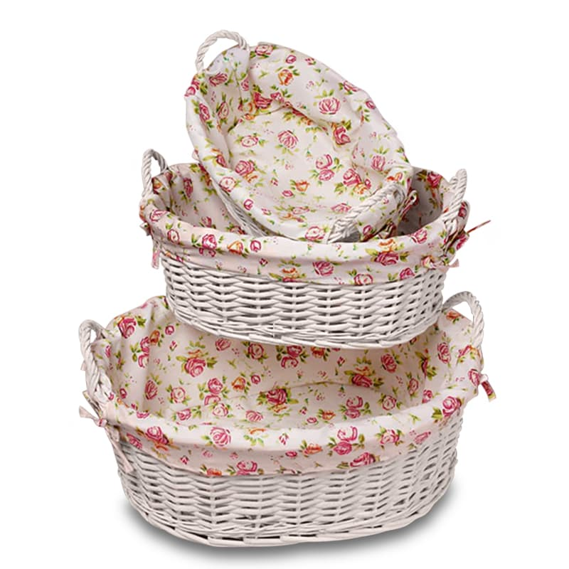 Bexon Oval Basket Tray With Cloth