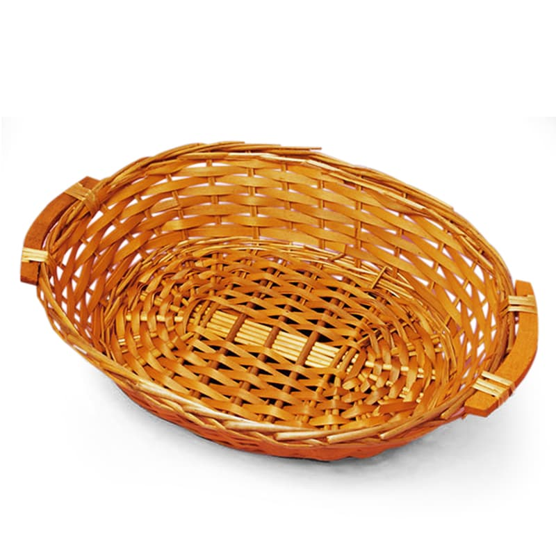 Willow Oval Basket Trays With Wood Handles