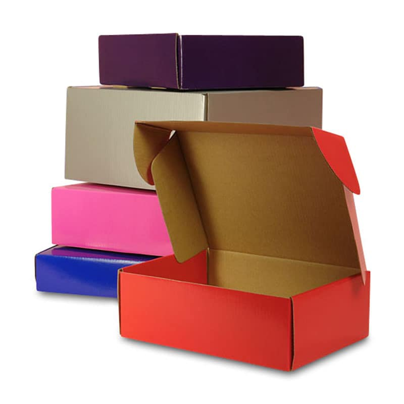 Colored Tuck Top Corrugated Shipping Boxes
