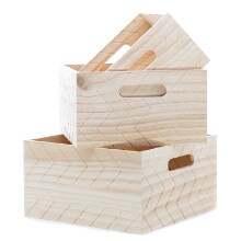 0fc999fcb5b 3 Piece Crate-Style Box Set · Zig Zag Embossed Wood Handle Box Set ...