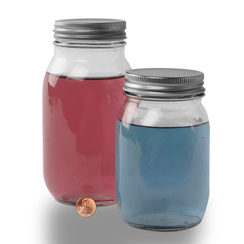 Round Glass Jars With Silver Lids