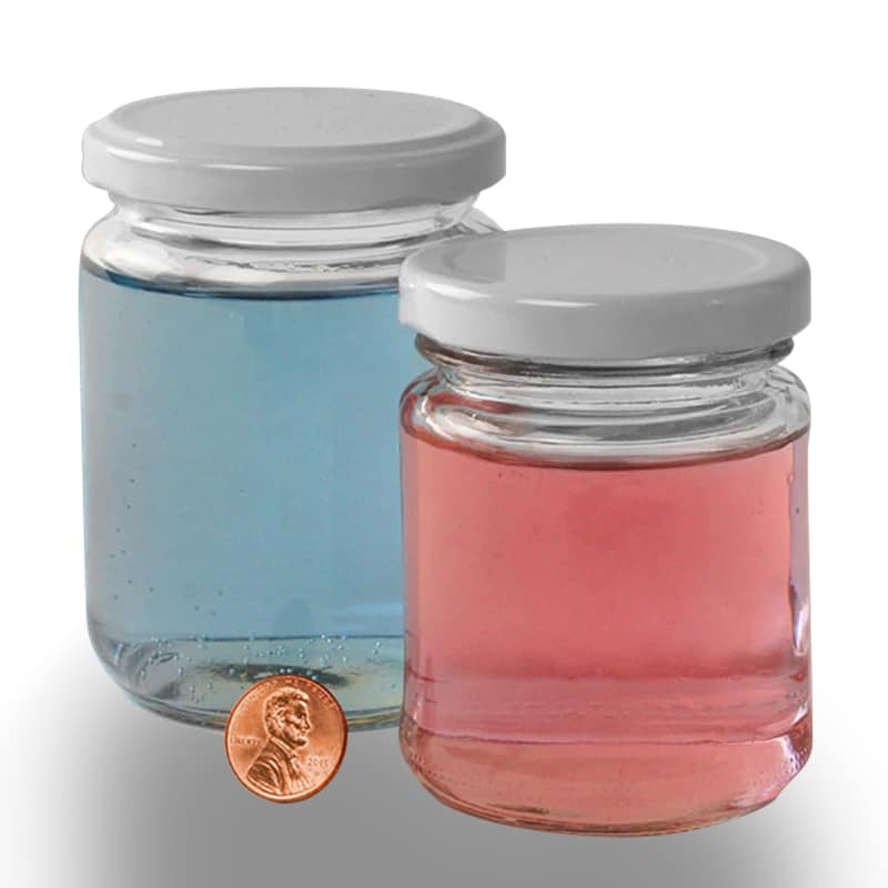 Straight Side Glass Jars With Lid