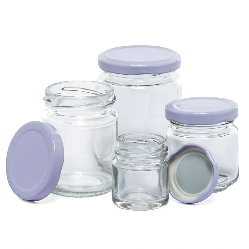 Round Glass Jars