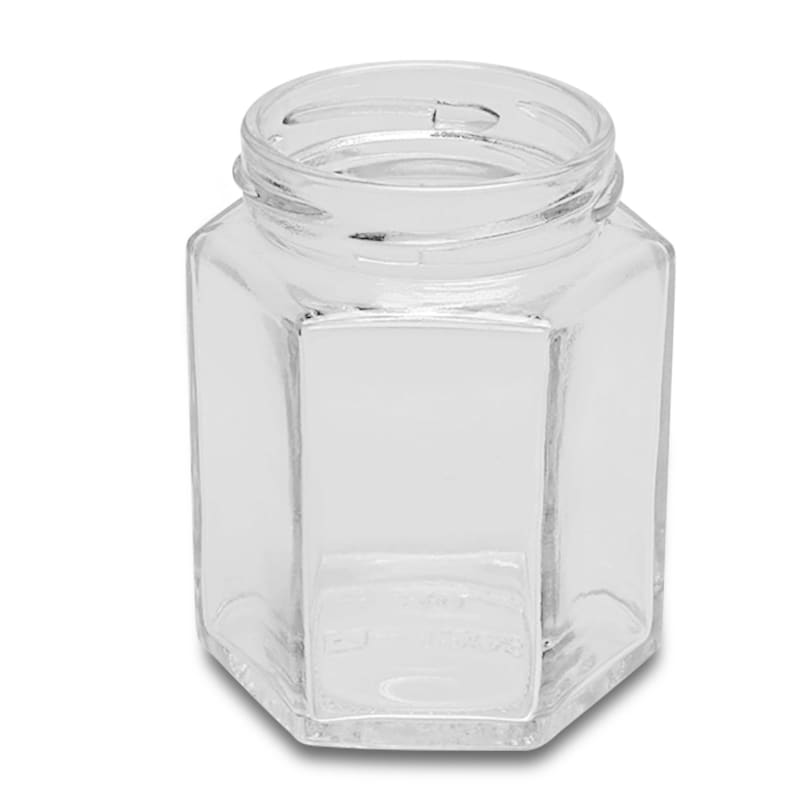 Hexagonal Glass Jars (Lids Sold Separately)