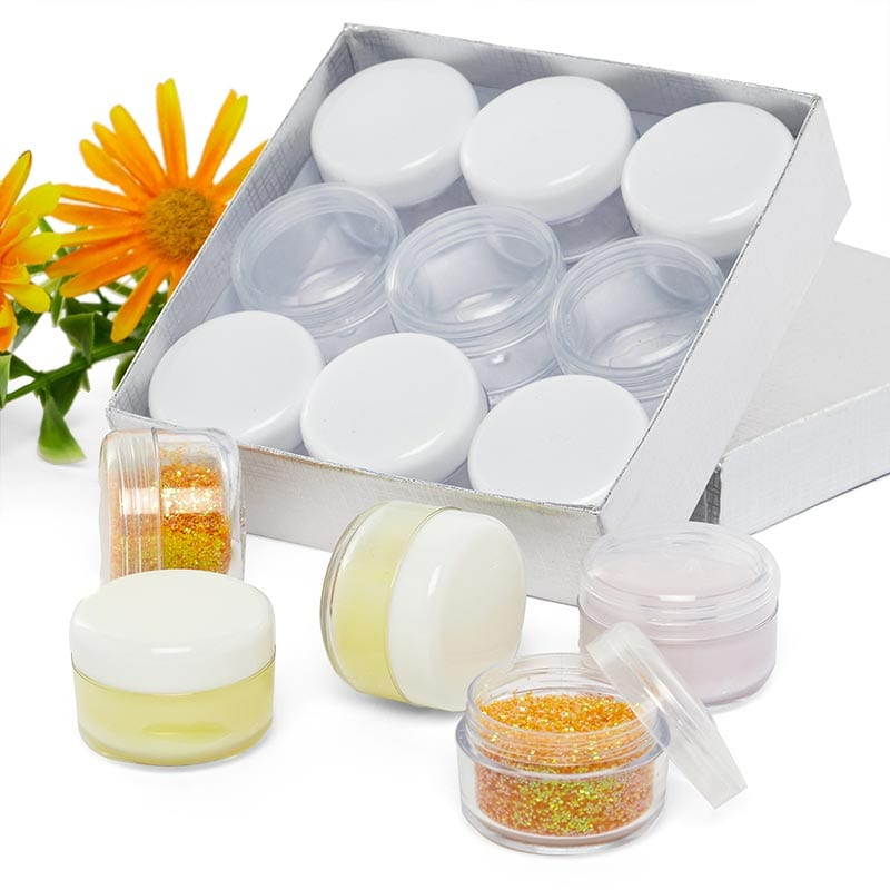 6 Ml Clear Plastic Jars With Lids