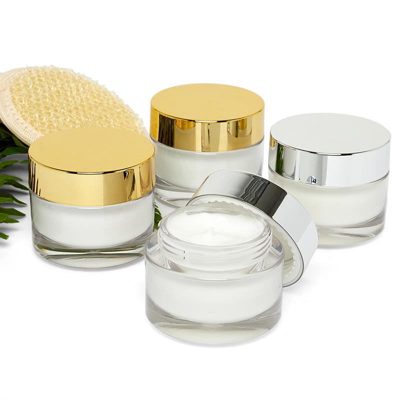 30 Ml Clear Cosmetic Jars With Lids