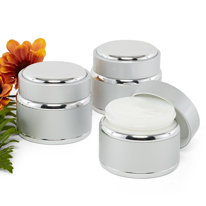 50 Ml Aluminum & Silver Cosmetic Jars