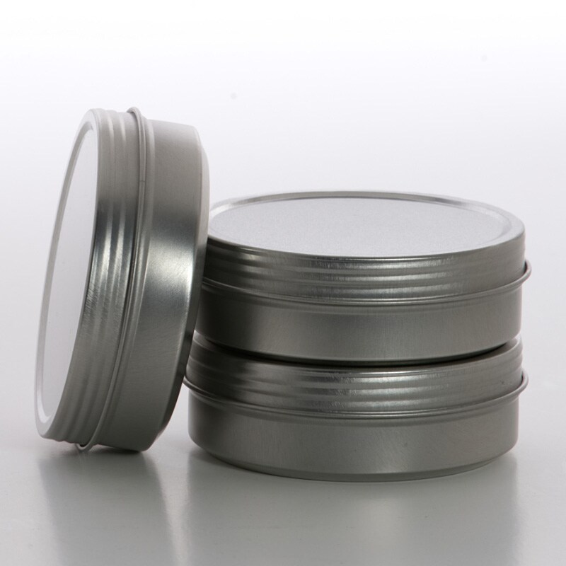 Stackable Screw Top Shallow Round Steel Tin Cans