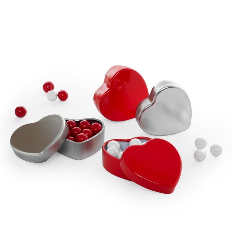 Heart Shaped Tin Can