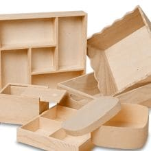 Tapered Corrugated Tote Tray, Wood Boxes ...